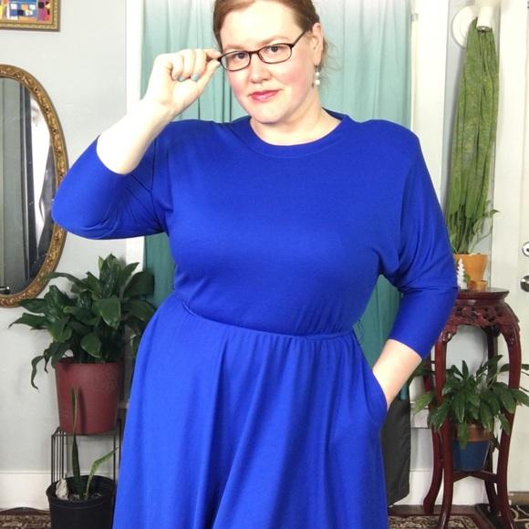 💙Vintage Plus Size Blue Secretary Dress💙